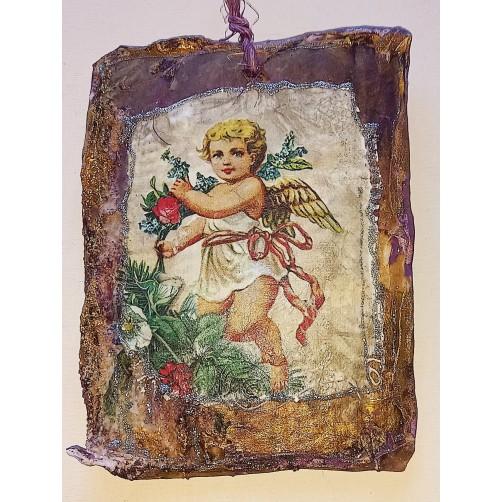 Angel zlate dobe 16 x 13 cm