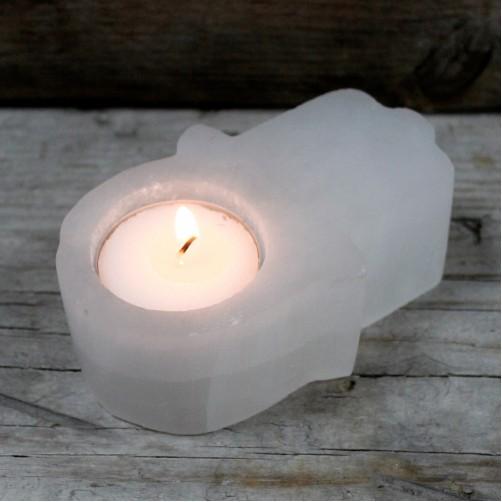 Svečnik iz Selenita -Hamsina roka zaščite