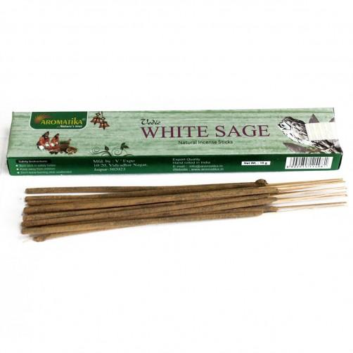 Indijske dišeče palčke Vedic White Sage / Beli žajbelj
