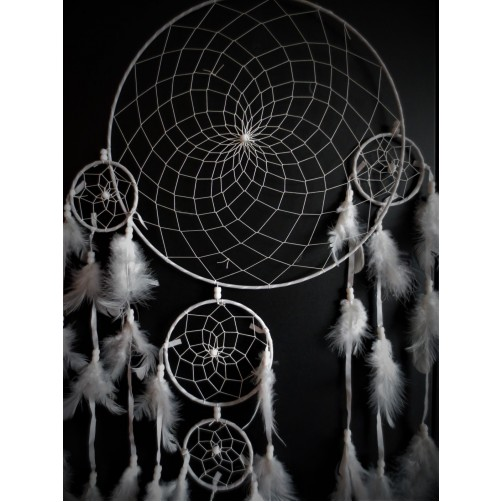 Dreamcatcher / Lovilec sanj - white, premer 33 cm