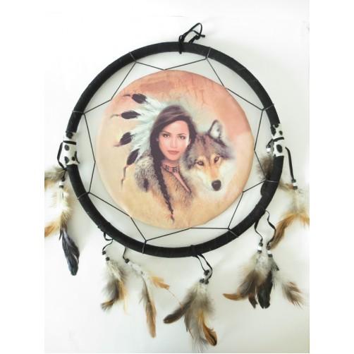 Dreamcatcher / Lovilec sanj - Indijanka z volkom