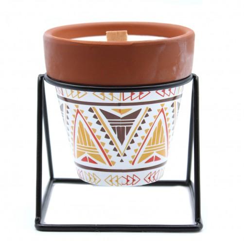 Aromaterapevtska sojina sveča v keramičnem lončku - vonj žajblja