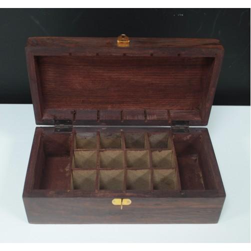 Škatla za shranjevanje eteričnih olj iz palisandrovega lesa