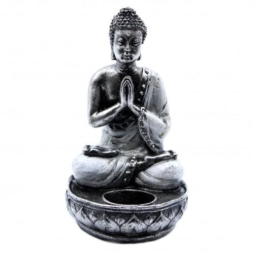 Buda svečnik bel kipec Namaste