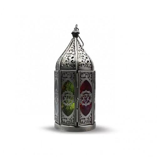 Čakra vitraž, svečnik24 cm
