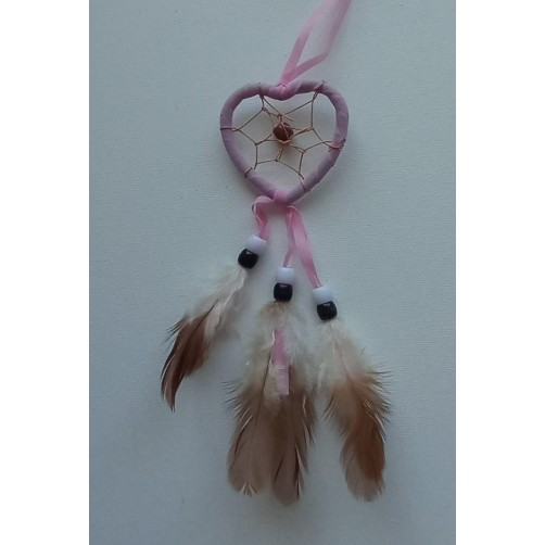 Dreamcatcher roza lovilec sanj srce