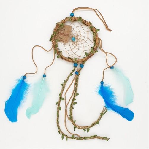 Dreamcatcher / lovilec sanj bambus s turkiznim kamnom