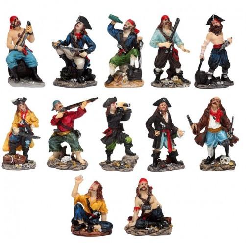 Gusarski zaklad s kristali in figurico pirata