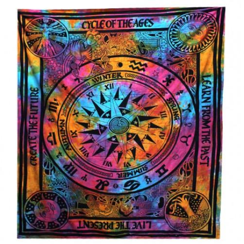 Pregrinjalo / rjuha iz indijskega bombaža Horoskop 230 x 200 cm
