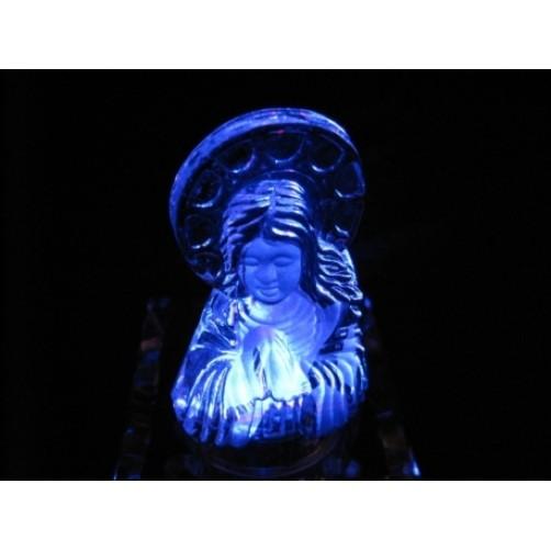 Devica Marija, doprsni steklen kipec, 7 cm