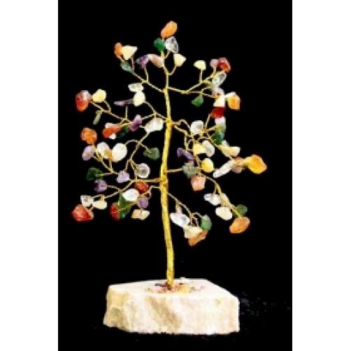 Feng Shui Kristalno drevo z različnimi kristali - 80 kamnov