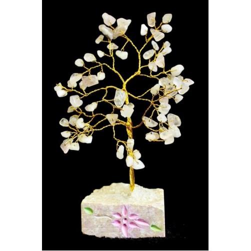 Feng Shui Kristalno drevo roževec - 80 kamnov