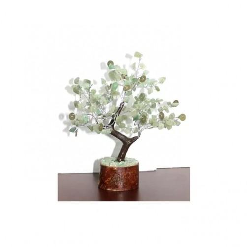 Kristalno drevo zeleni aventurin in kovanci sreče - Blaginja, 160 kamnov