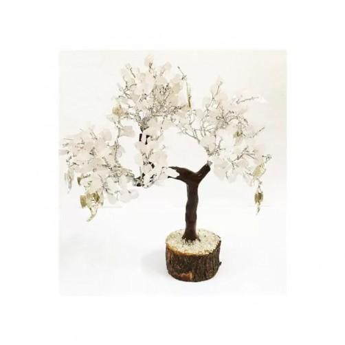Kristalno drevo z roževcem in Ganesho - Zaupanje in harmonija, 160 kamnov