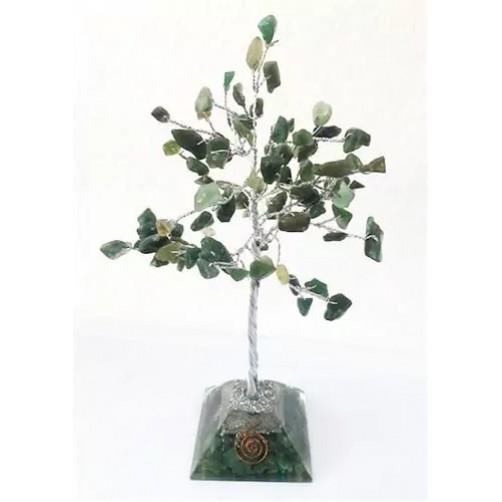 Kristalno drevo Orgonit na piramidni zasnovi Žad, 100 kamnov