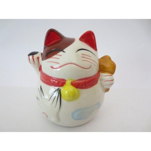 Feng Shui bela Srečna mačka - za kovance