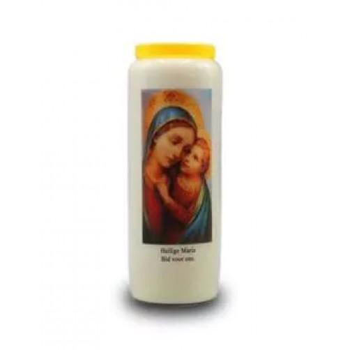 Obredna sveča za mir in varnost Devica Marija 18 x 6 cm
