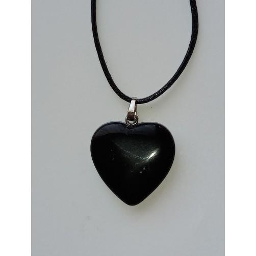 Obsidian ogrlica srce