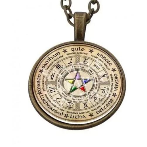 Ogrlica s srečnim obeskom Astro Pentagram