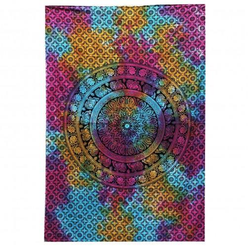 Pregrinjalo / rjuha iz indijskega bombaža Mandala Čakra 230 x 200 cm