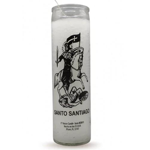 Sveča za blagoslov in zaščito doma Santo Santiago, sveti Jakob 20 cm