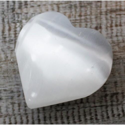 Selenit srce 5 - 6 cm