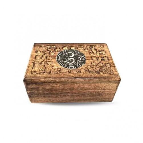 Ročno izdelana škatla za shranjevanje OM