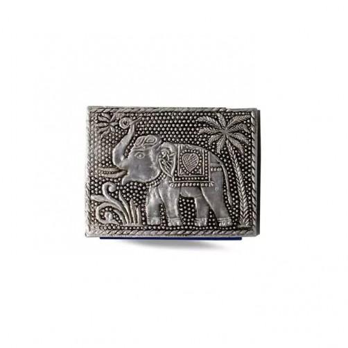 Beležka z aluminijastim ovitkom in vgraviranim Slonom
