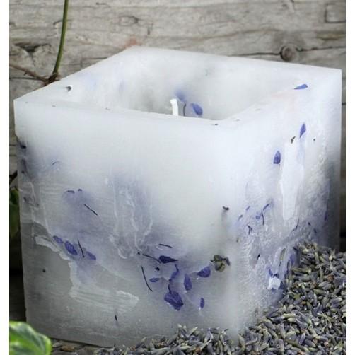 Čarovniška sveča iz sojinega voska in prave sivke