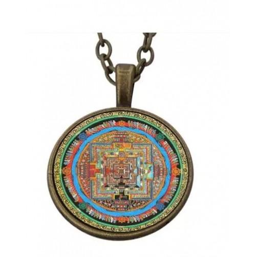 Ogrlica s srečnim obeskom Tibetanska yantra
