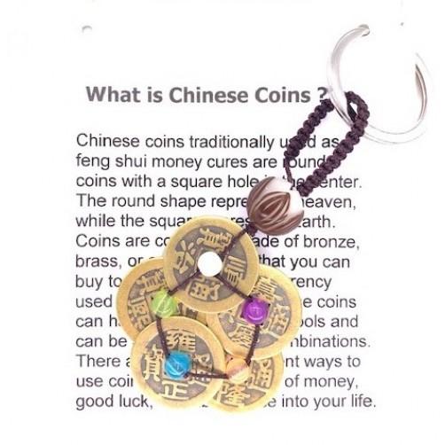 Feng Shui Kovanci sreče - obesek