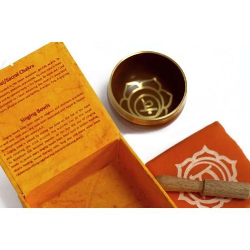 Tibetanska pojoča skleda za drugo čakro - Oranžna