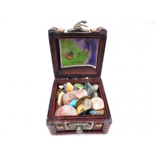 Gusarski zaklad z novčiči sreče, kristali in minerali